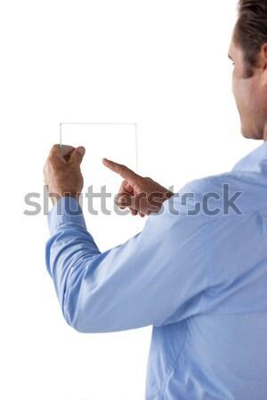изображение бизнесмен невидимый интерфейс белый человека Сток-фото © wavebreak_media