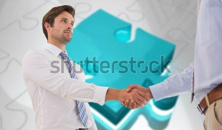бизнесмен белый телефон синий Сток-фото © wavebreak_media