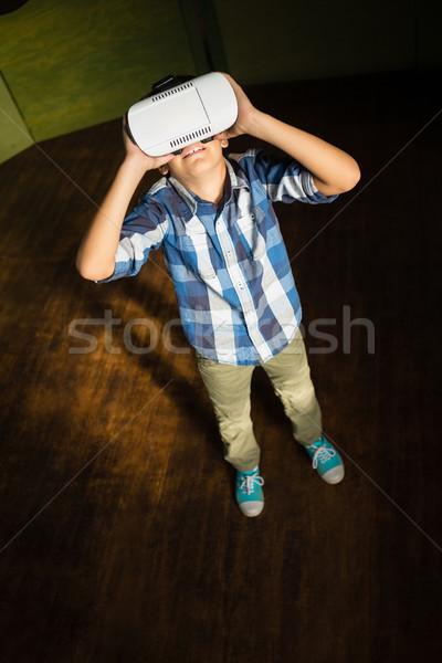 少年 バーチャル 現実 ヘッド ホーム 幸せ ストックフォト © wavebreak_media