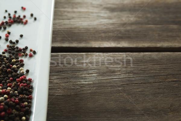 Mix peppercorns in tray Stock photo © wavebreak_media