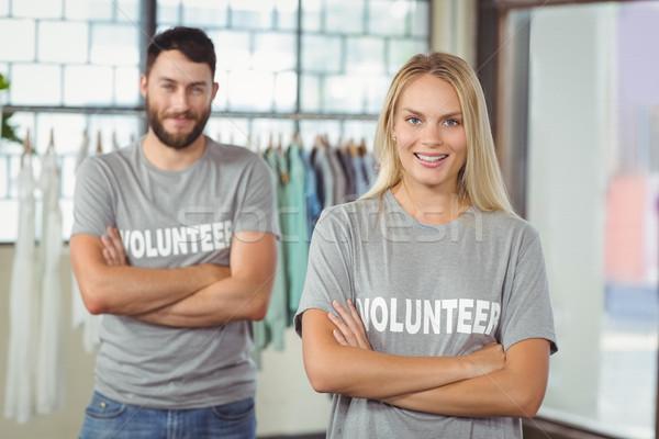 Retrato sorrindo colega escritório em pé mulher Foto stock © wavebreak_media