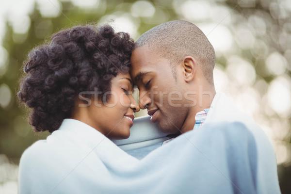 Pacífico casal em pé nariz jardim mulher Foto stock © wavebreak_media