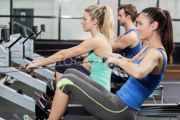 Encajar personas dibujo máquina gimnasio mujer Foto stock © wavebreak_media