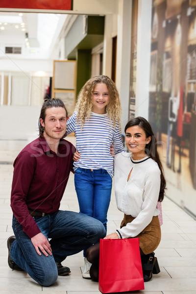 Portret szczęśliwą rodzinę rodziców córka Zdjęcia stock © wavebreak_media