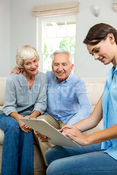 Consultant with senior couple at home Stock photo © wavebreak_media