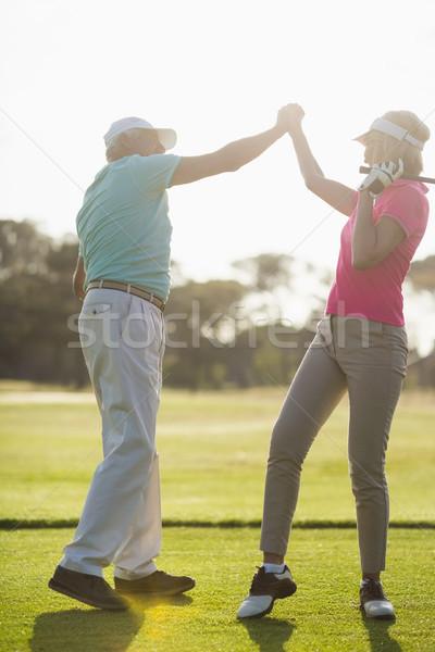 зрелый пару , держась за руки Постоянный области Сток-фото © wavebreak_media
