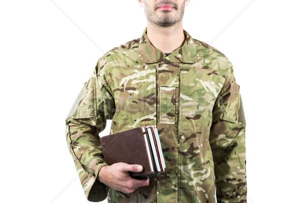 Soldat livres blanche homme Photo stock © wavebreak_media