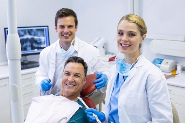 Ritratto sorridere dentisti maschio paziente uomo Foto d'archivio © wavebreak_media
