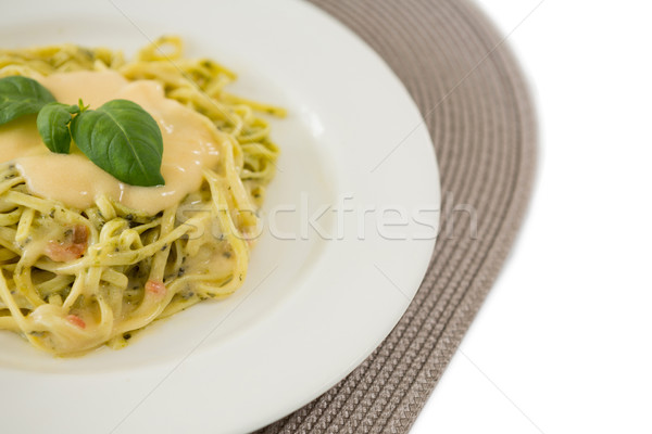 Close up of cooked pasta served with sauce Stock photo © wavebreak_media