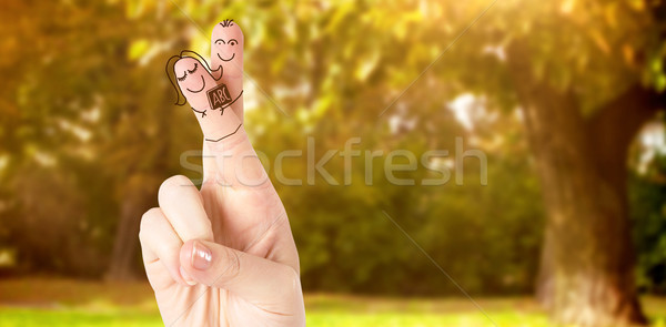 Composite image of fingers posed as students Stock photo © wavebreak_media