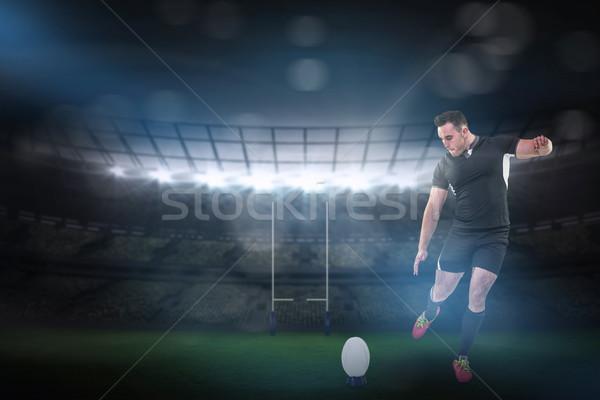 Imagem rugby jogador bola Foto stock © wavebreak_media