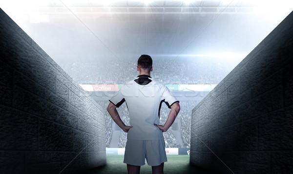 изображение вид сзади регби игрок рук Сток-фото © wavebreak_media