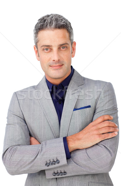 Charismatic businessman with folded arms Stock photo © wavebreak_media
