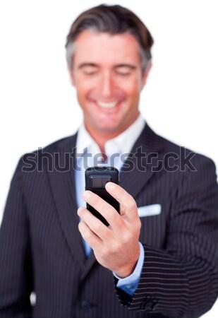 Ritratto imprenditore testo ufficio sorriso Foto d'archivio © wavebreak_media