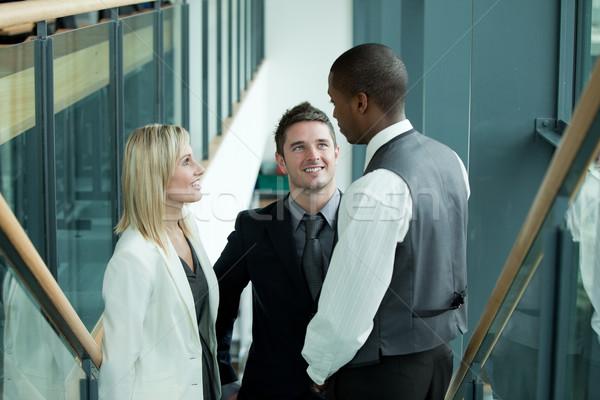 Zespół firmy pracy mówić pracy kobieta Zdjęcia stock © wavebreak_media