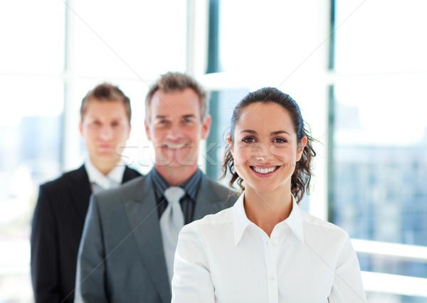 улыбаясь деловая женщина команда молодые бизнеса служба Сток-фото © wavebreak_media