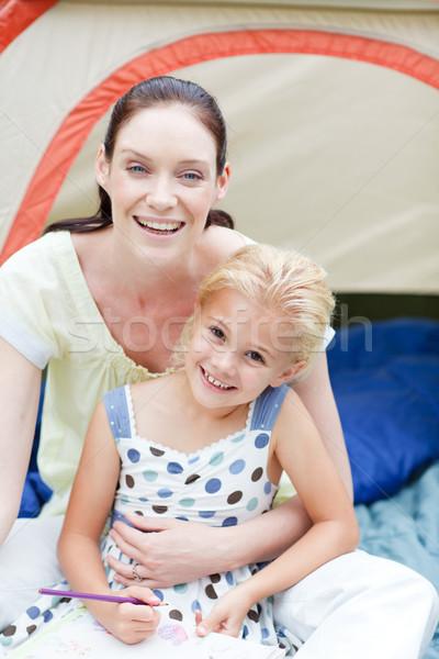 Madre figlia giocare tenda insieme ragazza Foto d'archivio © wavebreak_media