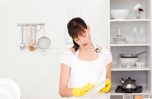 Mujer cocina agua casa trabajador Foto stock © wavebreak_media