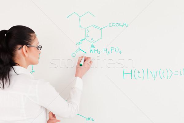 Wetenschapper schrijven formule kantoor student Stockfoto © wavebreak_media