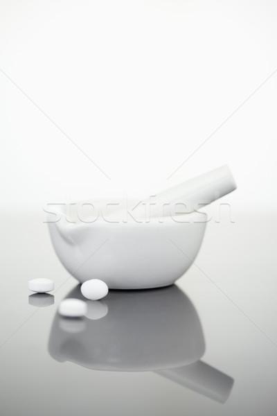 Tabletták fehér étel orvosi háttér gyógyszer Stock fotó © wavebreak_media