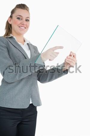 Portre işkadını kartvizit beyaz iş Stok fotoğraf © wavebreak_media