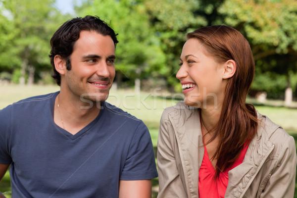 男 にやにや 友達 笑い 明るい 夏 ストックフォト © wavebreak_media