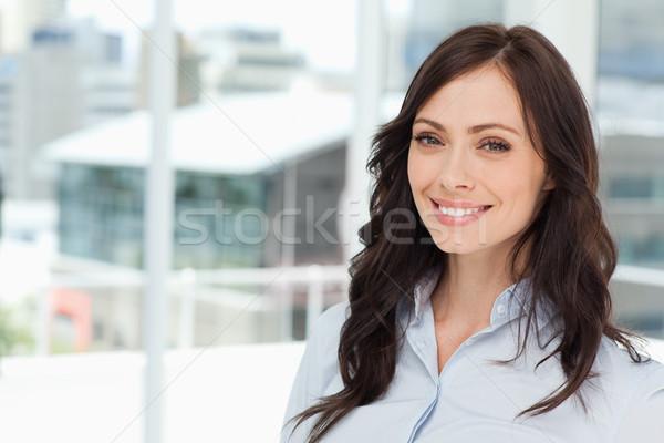 Photo stock: Jeunes · souriant · exécutif · femme · permanent · lumineuses