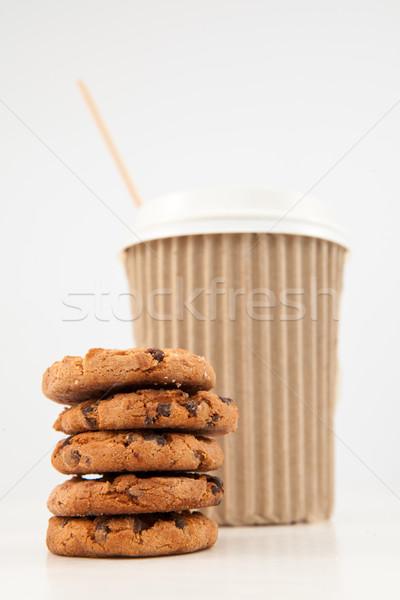 Cookies Кубок чай вместе белый Сток-фото © wavebreak_media