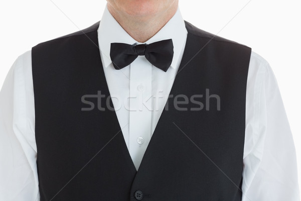 close-up of a man dressed in a suit with bow tie Stock photo © wavebreak_media