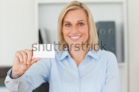 Kadın yürütme boş kart ofis portre Stok fotoğraf © wavebreak_media