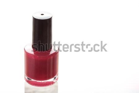 Rojo esmalte de uñas blanco moda vidrio espejo Foto stock © wavebreak_media