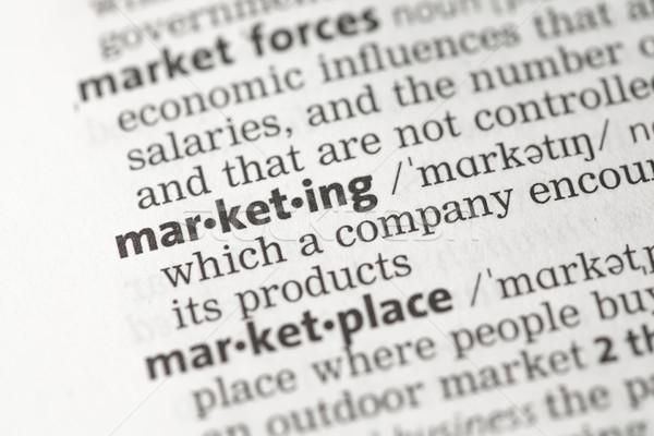 マーケティング 定義 辞書 ビジネス 情報 知識 ストックフォト © wavebreak_media