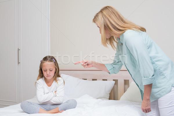 Upset mother scolding her daughter  Stock photo © wavebreak_media