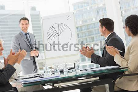 Business people in office at presentation Stock photo © wavebreak_media