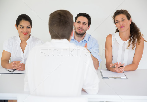 Man being interviewed by business people Stock photo © wavebreak_media