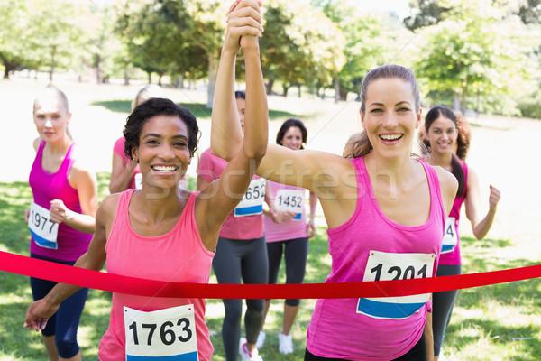 乳癌 参加者 レース 肖像 幸せ ストックフォト © wavebreak_media
