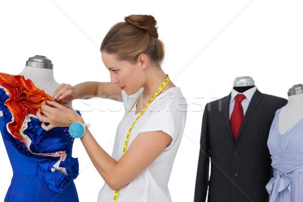 Female fashion designer and mannequins Stock photo © wavebreak_media