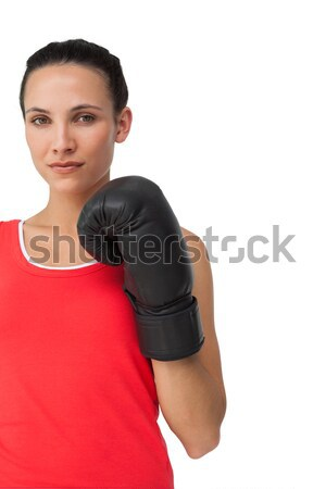 Portret kobiet bokser koncentruje szkolenia Zdjęcia stock © wavebreak_media