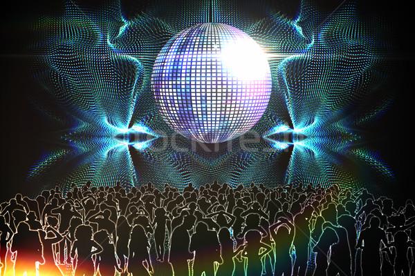 Digitalmente gerado boate discoball pessoas dança Foto stock © wavebreak_media