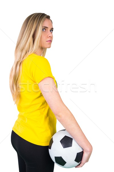 Mooie voetbal fan tshirt witte Stockfoto © wavebreak_media