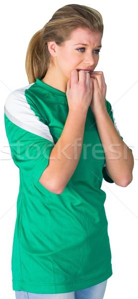 Nervioso fútbol ventilador verde blanco fútbol Foto stock © wavebreak_media