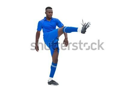 Niebieski biały sportu piłka nożna Zdjęcia stock © wavebreak_media