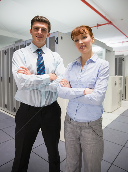 Confident data technicians looking at camera  Stock photo © wavebreak_media