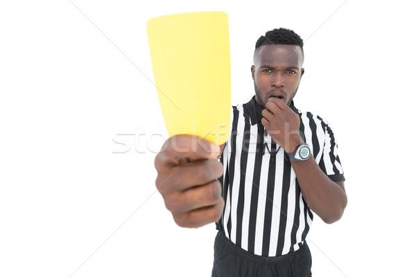 Grave arbitro giallo carta bianco Foto d'archivio © wavebreak_media