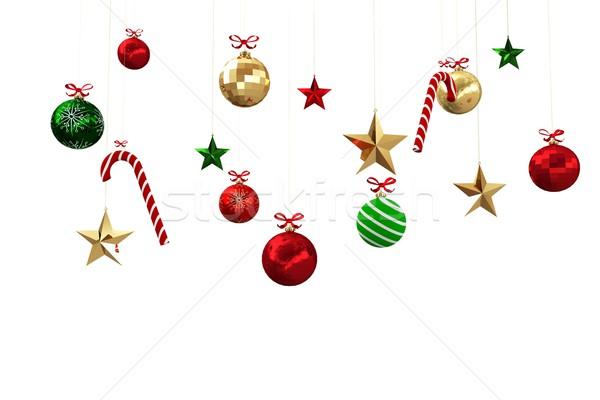 デジタル 生成された 絞首刑 クリスマス 装飾 白 ストックフォト © wavebreak_media