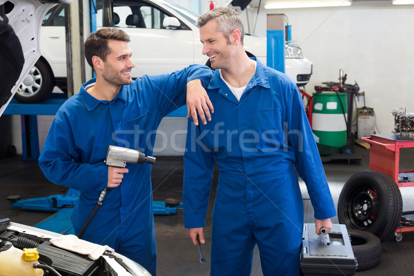 Team Mechanik Reparatur Garage Mann Stock foto © wavebreak_media