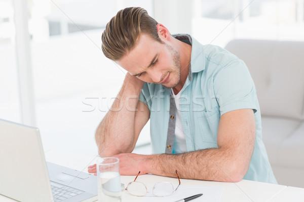 концентрированный случайный бизнесмен мышления служба бизнеса Сток-фото © wavebreak_media
