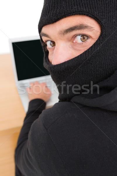ハッカー ラップトップを使用して アイデンティティ 白 男 ノートパソコン ストックフォト © wavebreak_media