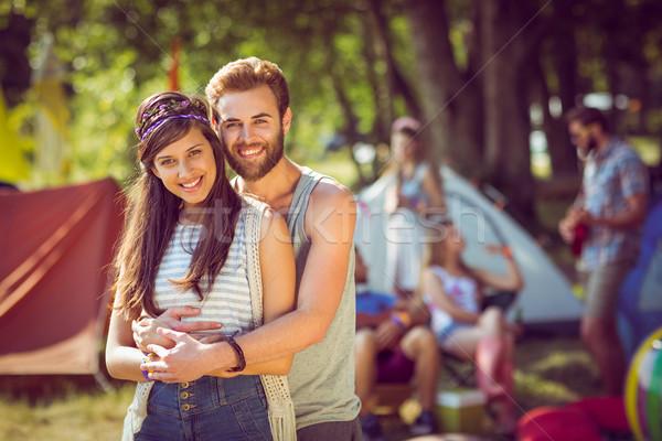 Hipster couple smiling at camera Stock photo © wavebreak_media