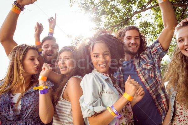 幸せ ヒップスター ダンス 音楽 音楽祭 女性 ストックフォト © wavebreak_media